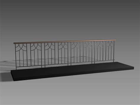 antique iron balcony railing design 3d model 3dsmax 3ds autocad files