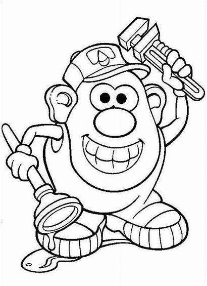 Potato Coloring Head Mr Pages Printable Cartoon
