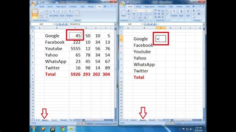 how to link formula one sheet to other sheets in ms excel youtube