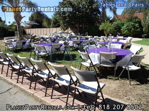 tables chairs linen table cloths available for rent