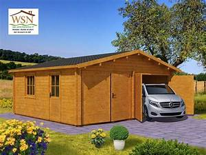 Garage Bois En Kit : garage en bois 36m 6000x6000 44mm ws701 wsn chalet ~ Premium-room.com Idées de Décoration