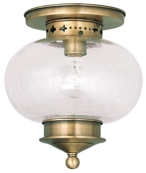 harbor ceiling mount antique brass transitional flush