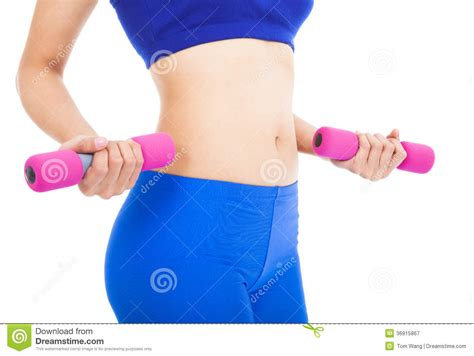 Before you think about going under the knife, consider the female body parts men love about. Woman Body Part With Fitness Dumbell Royalty Free Stock ...