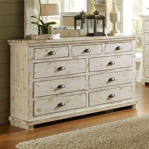 white dresser set willow drawer dresser distressed white progressive 13841