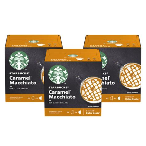 Flavors of caramel and vanilla come together to mimic the taste of a popular dessert with starbucks creme brulee. Nescafé Dolce Gusto Starbucks Caramel Macchiato Coffee Pods, 18 Servings | Costco UK