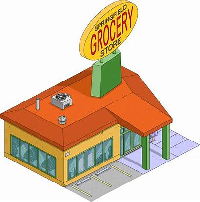 Grocery Clipart Springfield Simpsons Tapped Building Shopping