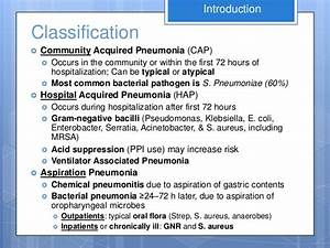 Diagnosis & Mangement of Community-Acquired Pneumonia ...