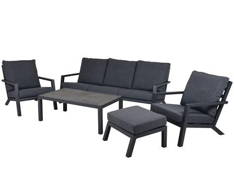 Aluminium Garten Lounge Set 5teilig  Gartenmöbel Lünse