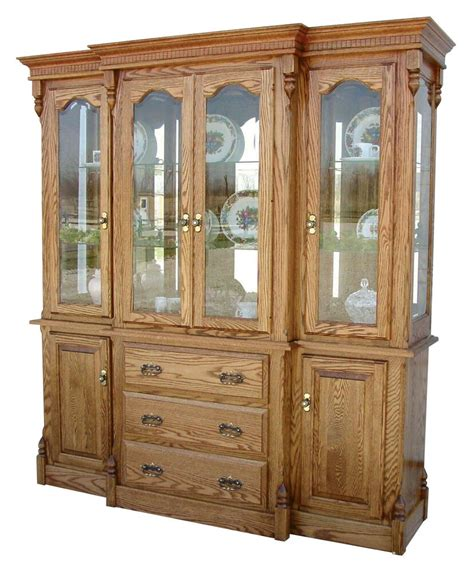 amish dining room hutch traditional china cabinet solid