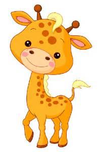 Baby Giraffe Cartoon Animals Clip Art