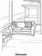 Porch Coloring 300px 19kb sketch template