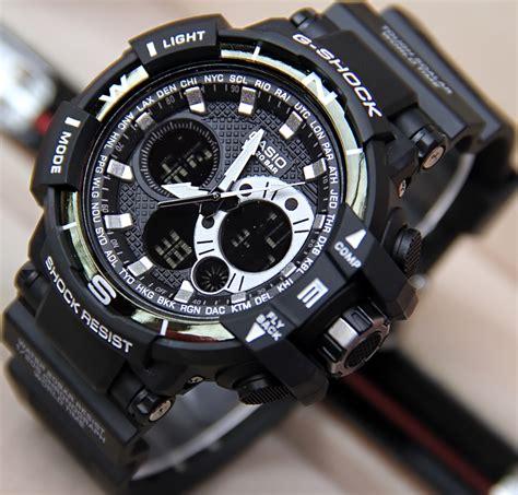 Gshock Gwa 1100 Hitam List Biru jam tangan g shock fortuner jualan jam tangan wanita