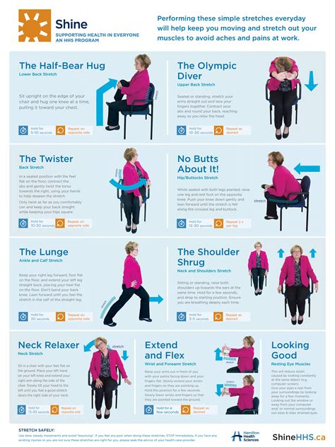 Found this in facebook and thought of sharing this with you. Desk stretches to reduce pain and injury - Hamilton Health Sciences