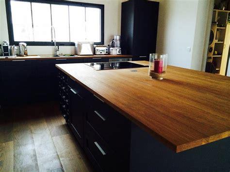 plan de travail cuisine noir finest cuisine moderne plan travail bois surprenant