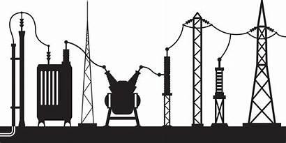 Substation Electrical Vector Illustration Clipart Smart Scene