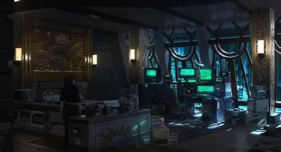 Cyberpunk Interior Dystopian Concept Future Student Artstation