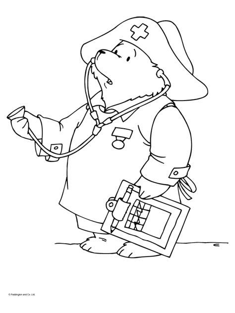 Kleurplaat Dokter Zuster by Kleurplaat Paddington Als Dokter Kleurplaten Nl
