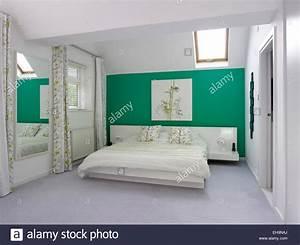 Bedroom With Velux Windows Stockfotos & Bedroom With Velux