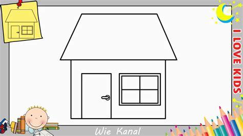 Wie Zeichnet Man Eine Haus Schritt Für Schritt Für