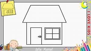 Haus Strichzeichnung Einfach : wie zeichnet man eine haus schritt f r schritt f r anf nger kinder haus zeichnen 5 youtube ~ Watch28wear.com Haus und Dekorationen