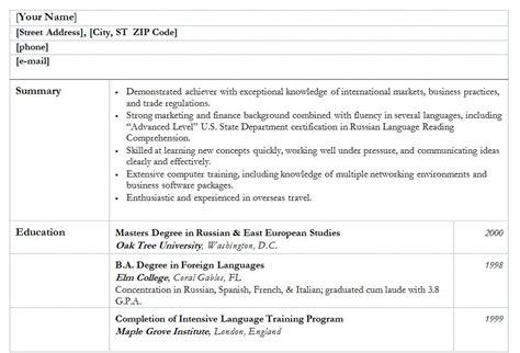 Exle College Resume by College Graduate Resume College Graduate Resume Template