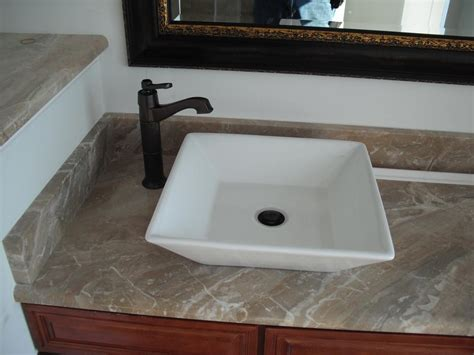 Bathroom Stunning Square Vessel Sink In True Minimalist