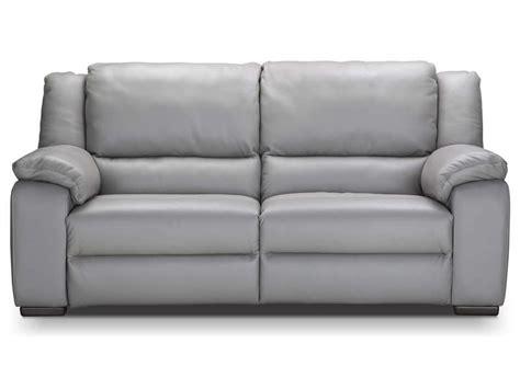 canap 233 fixe relaxation 233 lectrique 3 places en cuir saturday coloris gris vente de canap 233 droit