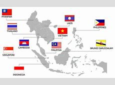 asean flags printables asean map countries Printable 360