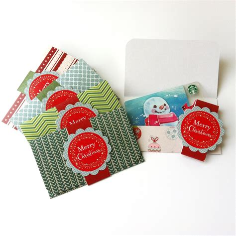 christmas holiday gift card or money holders set of 5