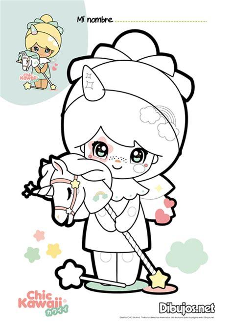 descarga  colorea los dibujos de chic kawaii son