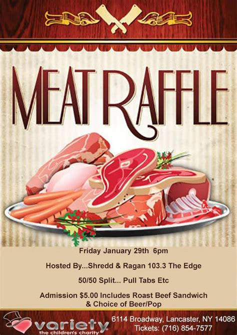 meat raffle january  wedg fm