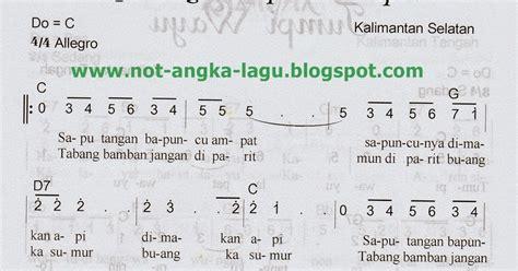 not angka lagu indonesia pusaka not angka saputangan bapuncu ampat kumpulan not angka lagu