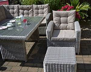 Rattan Lounge Grau : ecklounge manhattan ecksofa links tisch sessel hocker gro es rattan gartensofa lounge ~ Watch28wear.com Haus und Dekorationen