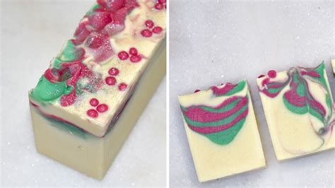 holiday berry cold process soap design video lovin
