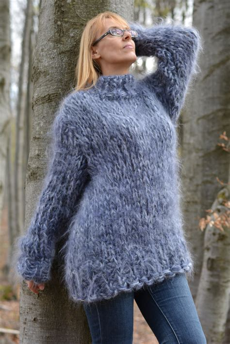 mohair sweater order knitted mohair sweater chunky mohair crew