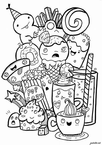 Doodle Coloring Doodling Junk Doodles Adult Colorare