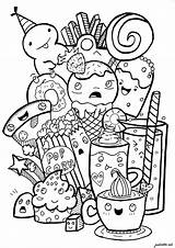 Doodle Coloring Doodling Junk Doodles Adult Colorare Disegni Colorear Adults Drawings Kawaii Coloriage Adulti Sheets Drawing Cartoon Adultos Vexx Malbuch sketch template