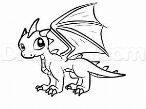 How to Draw a Baby Dragon, Step by Step, Dragons, Draw a ...