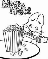 Popcorn Coloring Ruby Max Pages Bridges Kernel Printable Drawing Movie Night Christmas Corn Candy Getdrawings Getcolorings Sheet Sheets Drawings Bridge sketch template