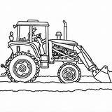 Tractor Coloring Plows Truck Plow Printable Drawing Snow Chalmers Allis Tractors Colouring Sheets Trailer John Deere Outline Illustration Template Letscolorit sketch template