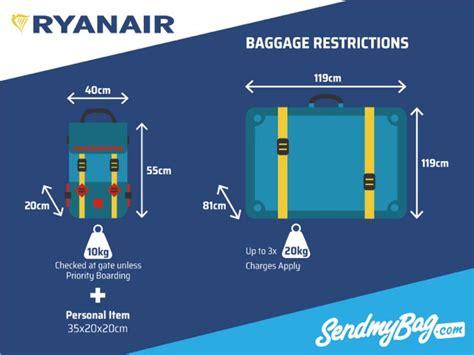 ryanair baggage allowance  hand hold luggage