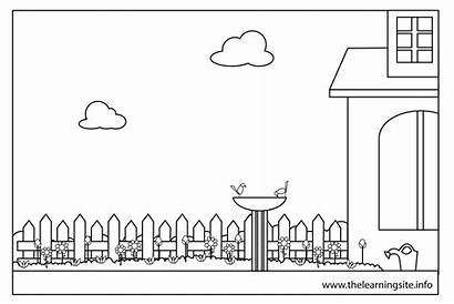 Coloring Garden Pages Bird Parts Worksheets Sheets
