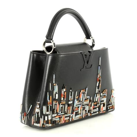 louis vuitton capucines handbag limited edition city beaded leather bb  sale  stdibs