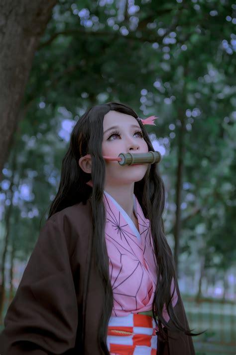 nezuko  kimetsu  yaiba cosplay cosplaygirls