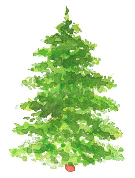 painted hand christmas trees watercolor painted tree stock illustration image 47629530