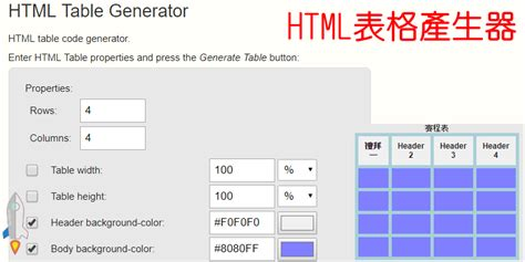 Html Div Table Generator by Html Table Generator網頁表格製作工具 自動產生程式碼 可自訂樣式與邊界 Techmarks劃重點
