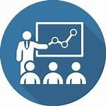Training Icon Vector Business Flat Mentoring Teacher