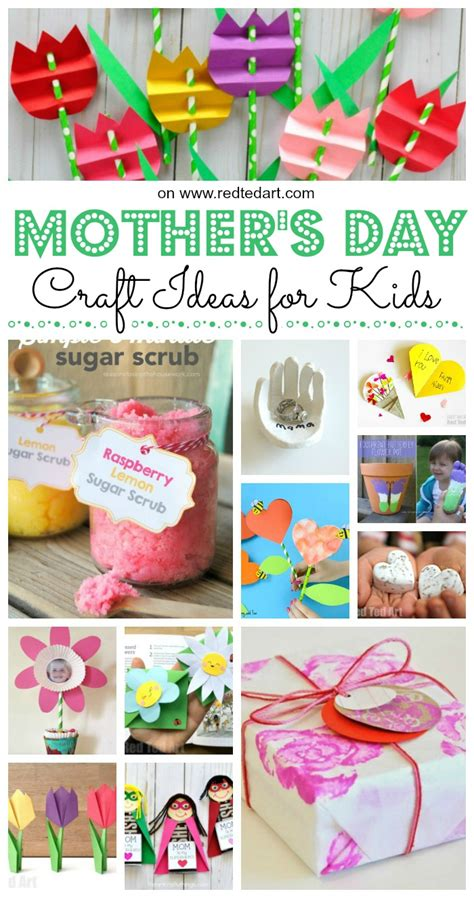 easy mothers day crafts  kids   red ted art