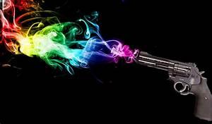 Rainbow, Smoke, Hd, Wallpapers