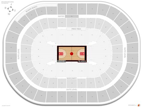 moda center seating chart venues quarter